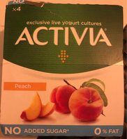 Peach yogurt 0% - Produit - fr
