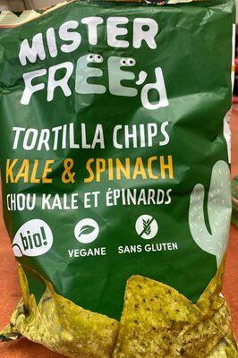 Tortilla Chips Chou Kale & Épinards - Nutrition facts - fr