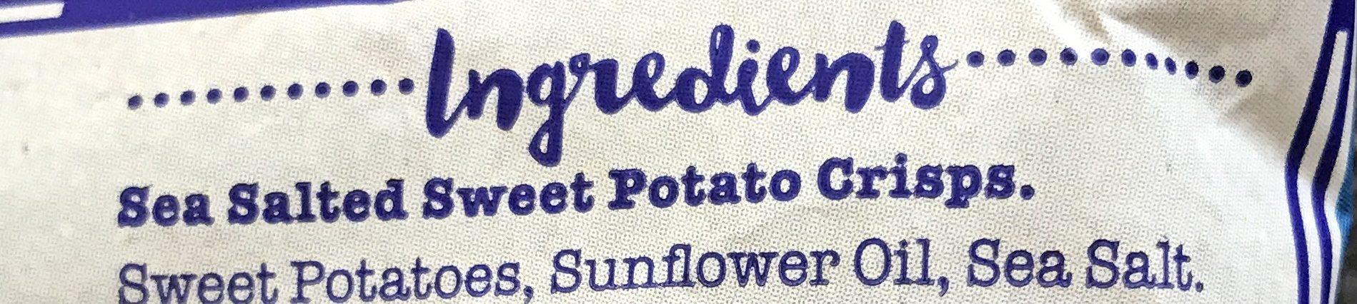 Sweet Potato Crisps Lightly Sea Salted - Ingrédients - fr
