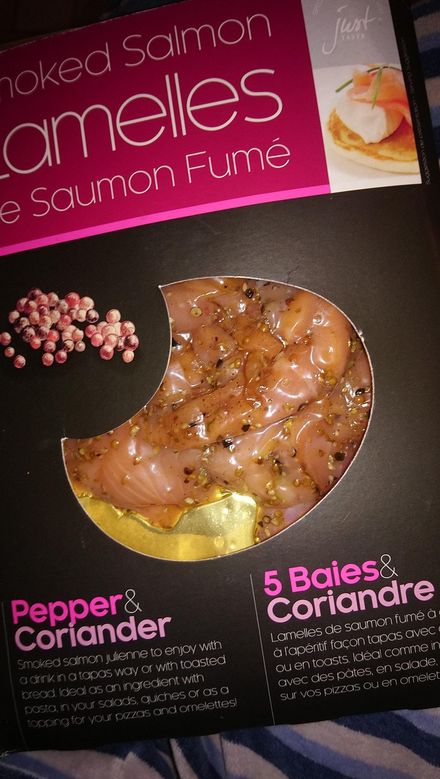 Lamelles de Saumon Fumé 5 baies & Coriandre - Produit - fr