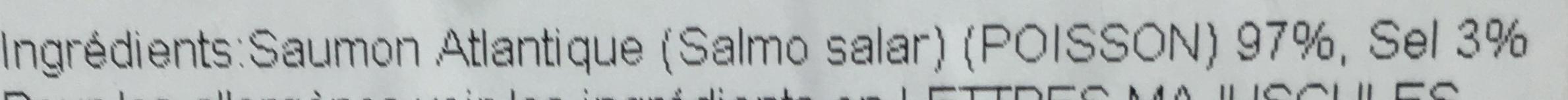 Saumon fumé atlantique d'Ecosse - Ingrédients - fr