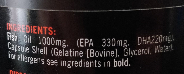 Ultra Omega 3 - Ingrédients