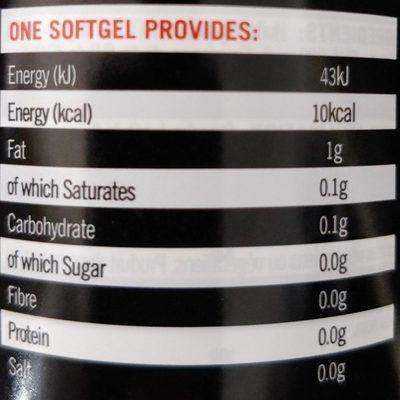 Ultra Omega 3 - Informations nutritionnelles