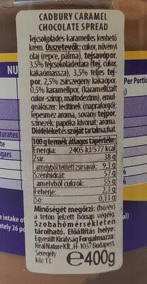 Cadbury Caramel Spread - Produit - fr