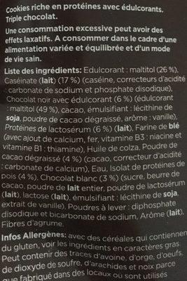 High Protein Cookie, Triple Chocolate - Ingrédients