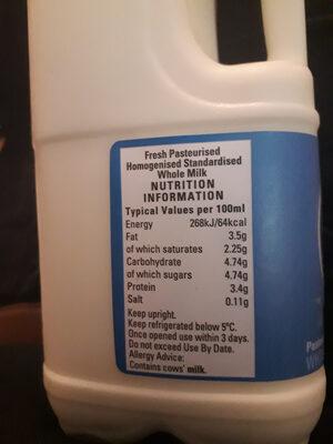 Pasterised whole milk - Ingredients - en