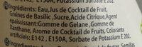 Fruit Cocktail - Ingrédients