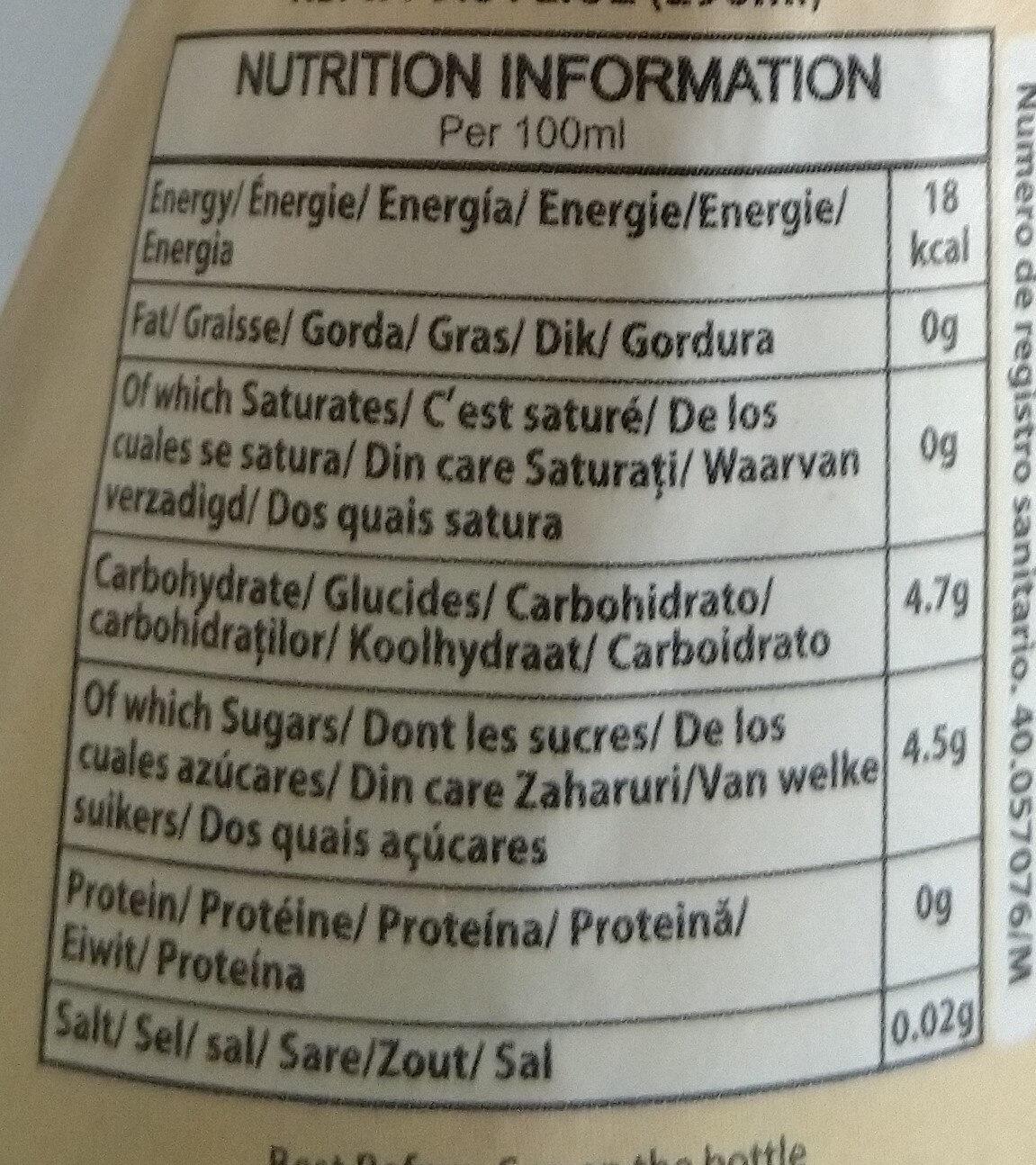 Fruit Cocktail - Informations nutritionnelles