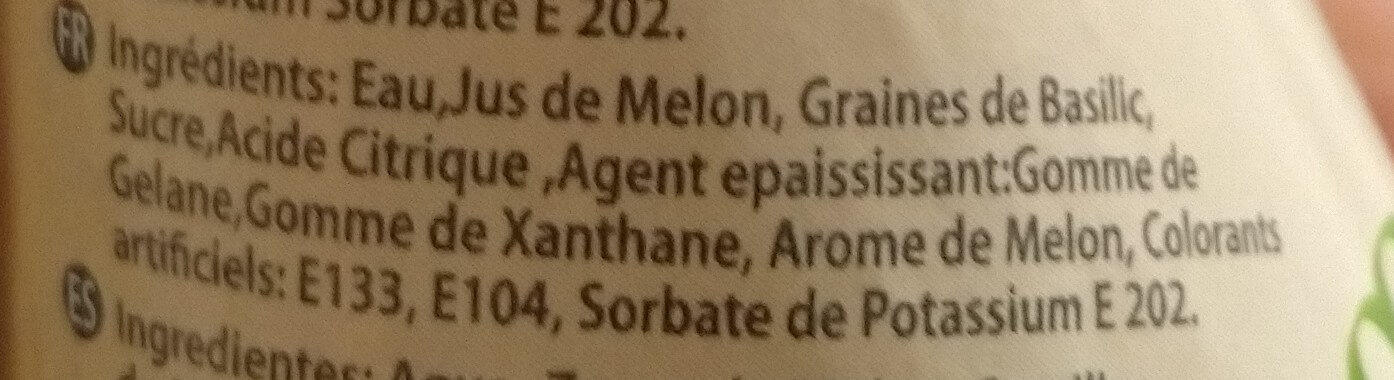 MELON - Ingrédients