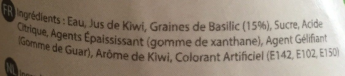Mr.Basil KIWI - Ingrediënten