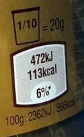 Pâte à tartiner goût caramel - Nährwertangaben