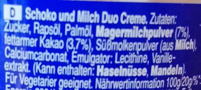 Milky Way Brotaufstrich - Inhaltsstoffe