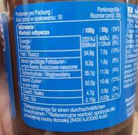 Pate a tariner - Valori nutrizionali - de