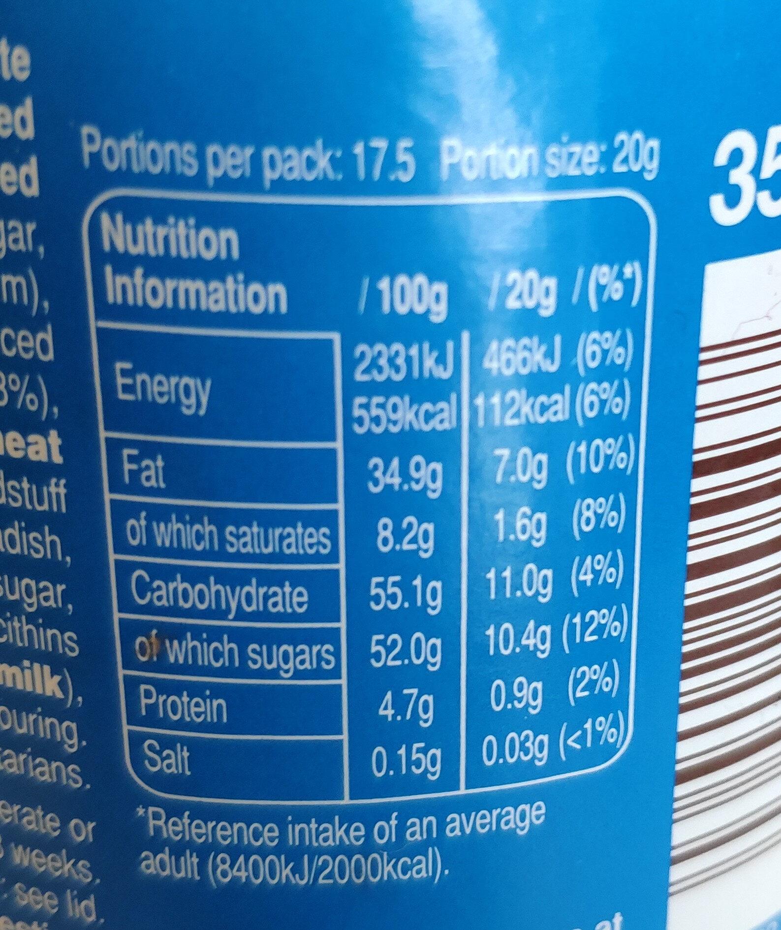 M&M's spread with crispy pieces - Informations nutritionnelles - en