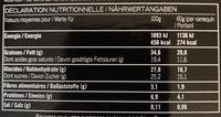 4 souffles craquants au chocolat - Informations nutritionnelles