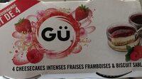 Cheesecakes intenses fraises framboises et biscuit sablé - Produit - fr