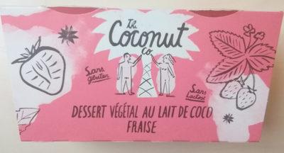 Dessert Végétal au Lait de Coco Fraise - Produit - fr