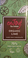 Organic Lime dark raw chocolate - Producto - en