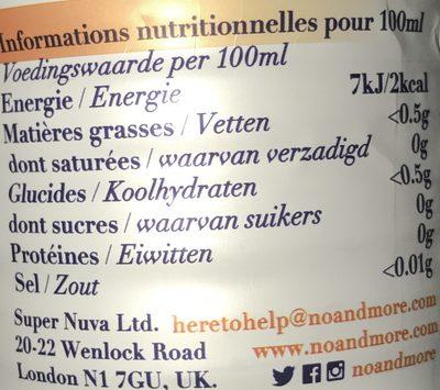 Tangerine & Mango - Informations nutritionnelles