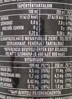 Energy Drink Zero - Informations nutritionnelles