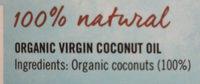 Organic virgin coconut oil - Ingrédients - en