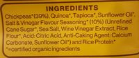 Organic chickpea puffs - Ingredients