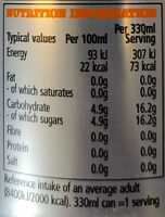 Original Gunna Natural Ginger & Aromatic - Informations nutritionnelles - en