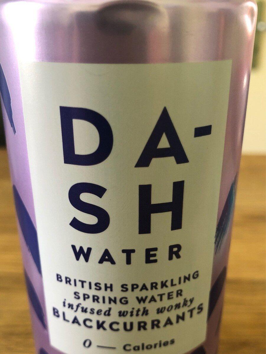 Dash water blackcurrants - Produit