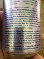 Dash water blackcurrants - Informations nutritionnelles