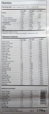 Huel Powder v2.3 - Vanilla Flavour - Valori nutrizionali - en
