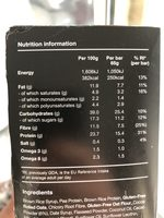 Huel Cocoa & Orange Flavour Bar - Informations nutritionnelles - en