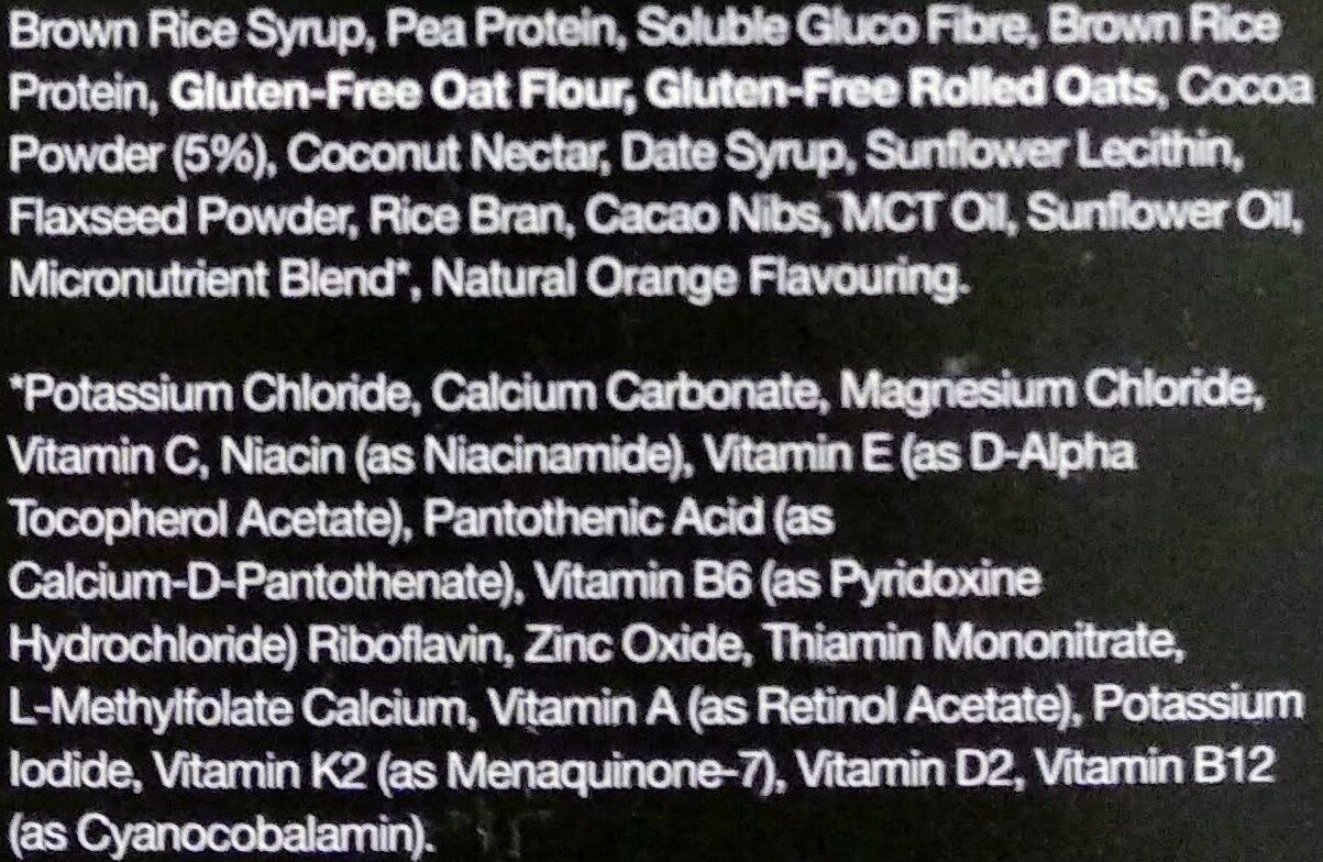 Huel Bar cacao & orange - Ingredients