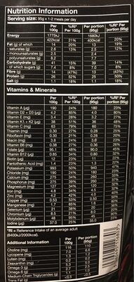 Hot & Savory Madras v1.0 - Nutrition facts - en