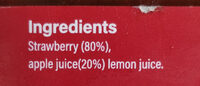 Strawberry fruit spread - Ingrédients