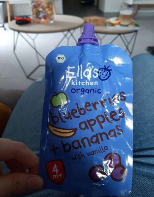 Organic blueberries, apples + bananas with vanilla - Prodotto - fr