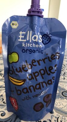Organic blueberries, apples + bananas with vanilla - Prodotto - fr