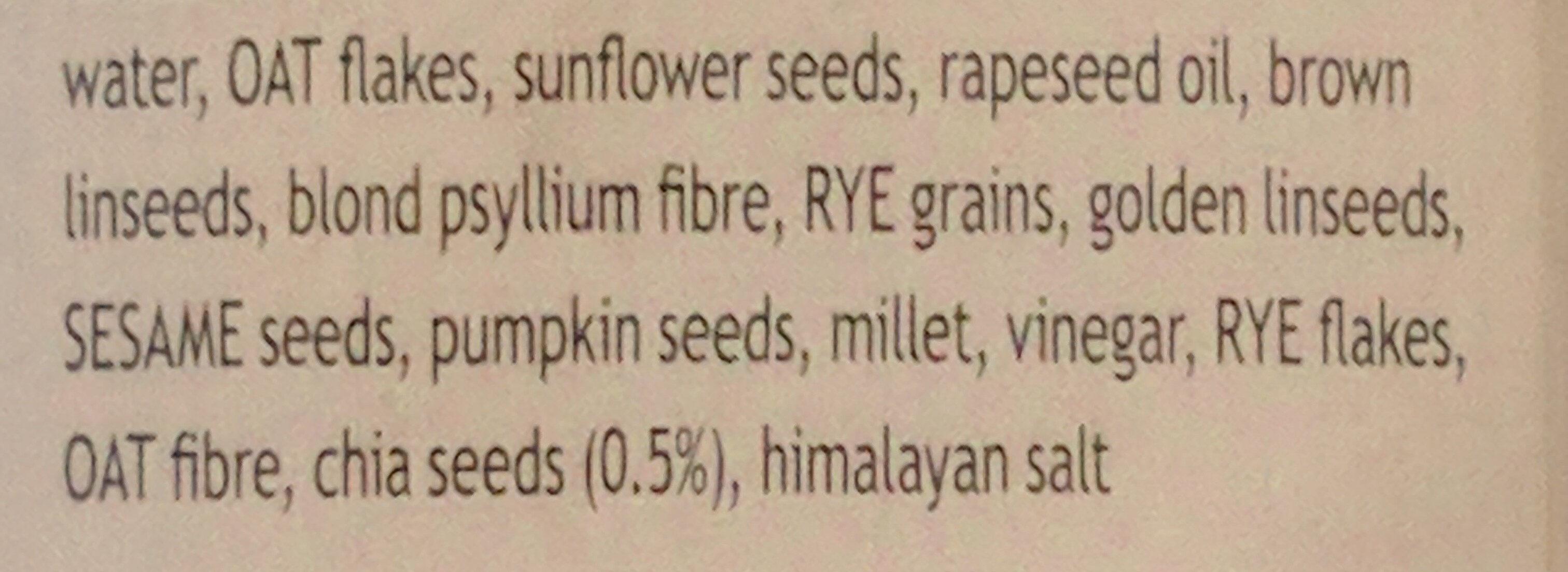 Pure Grain Bread with Chia Seeds - Ingrédients - en
