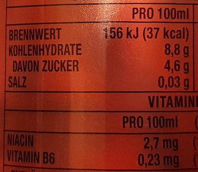 Hydro Manic Melon(R) - Informations nutritionnelles