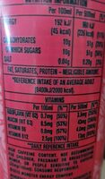 Monster Pacific Punch 500ml - Informations nutritionnelles - en