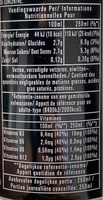 Monster rehab - Nutrition facts - fr