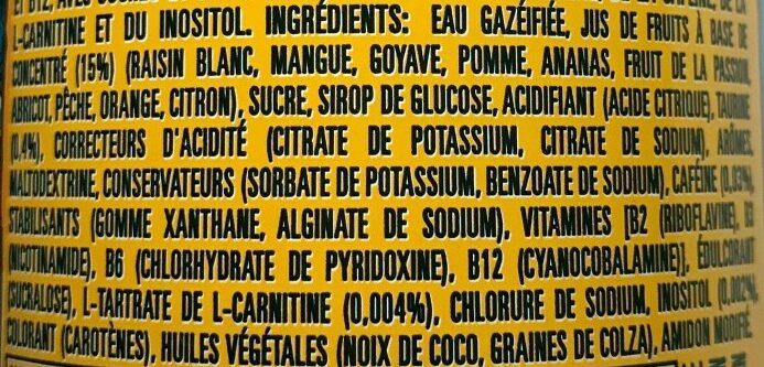 Monster energy juiced Mango Loco - Ingrédients - fr