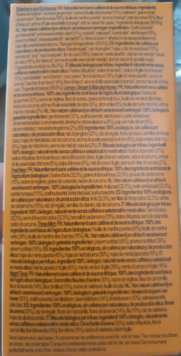 Pukka Infusion Bio Herbal Collection 20 Sachets - Voedingswaarden - fr
