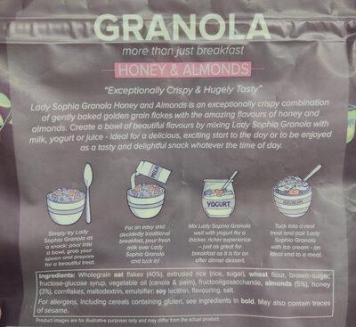 Granola Crunchy Cereal Flakes with Honey & Almonds - 成分 - en