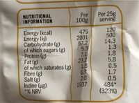 Seaweed chips - Nutrition facts - en