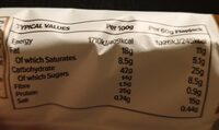 Smart Jack protein and oat flapjack - Nutrition facts - en
