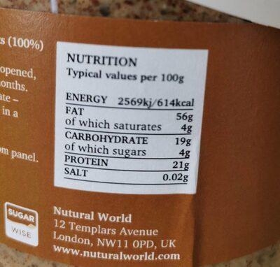 Almond Butter Crunchy - Valori nutrizionali - fr