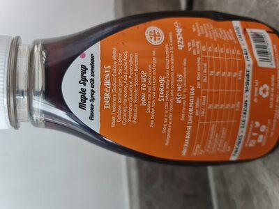 Sirop zero calories goût erable - Ingredienti - en