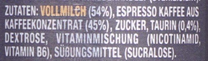 Espresso and Milk, Triple Shot - Zutaten - de