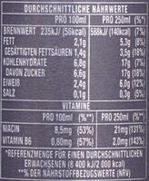 Espresso and Milk, Triple Shot - Nährwertangaben - de