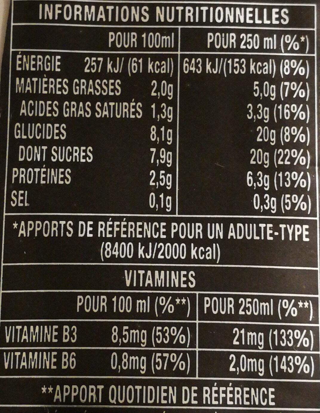 Monster Espresso parfum Espresso et lait - Informations nutritionnelles